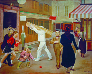 La Rue [La strada] 1933 oil on canvas / huile sur toile / olio su tela 195x240 cm James Thrall Soby Bequest, inv. 1200.1979 New York, The Museum of Modern Art painting / œuvre / opera © Balthus © MONDADORI PORTFOLIO/AKG Images