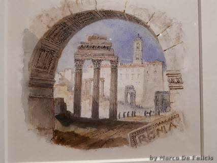 The Forum, for Rogers's 'Italy', 1826-27, grafite e acquerello su carta