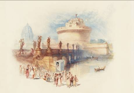 J. M. W. Turner, The Castle of St Angelo engraved 1832 Watercolour on paper Tate: Bequeathed by Beresford Rimington Heaton 1940